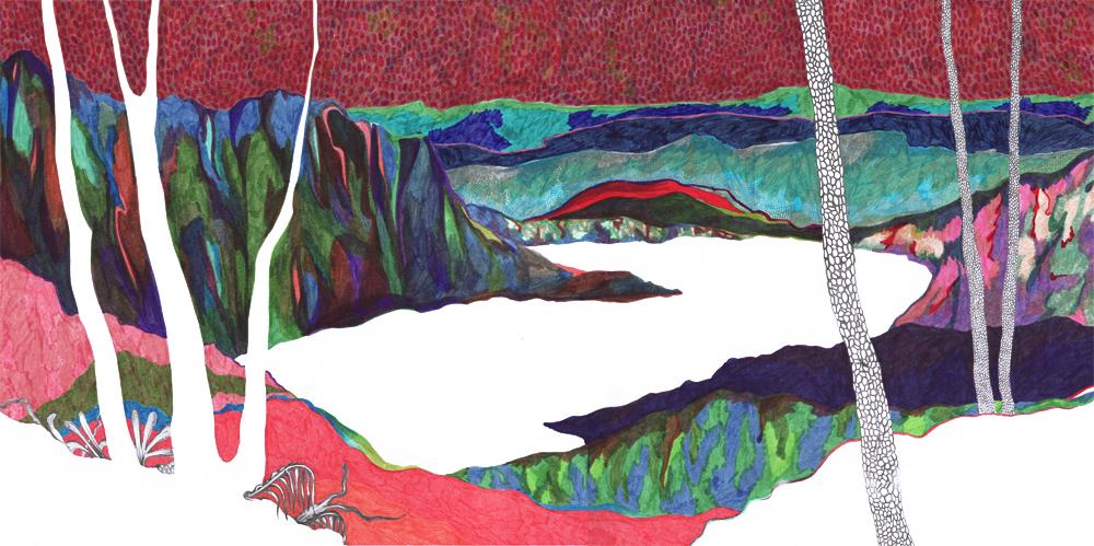 Sudalgie Esparon, 2012. Feutre sur papier. 65 × 25 cm