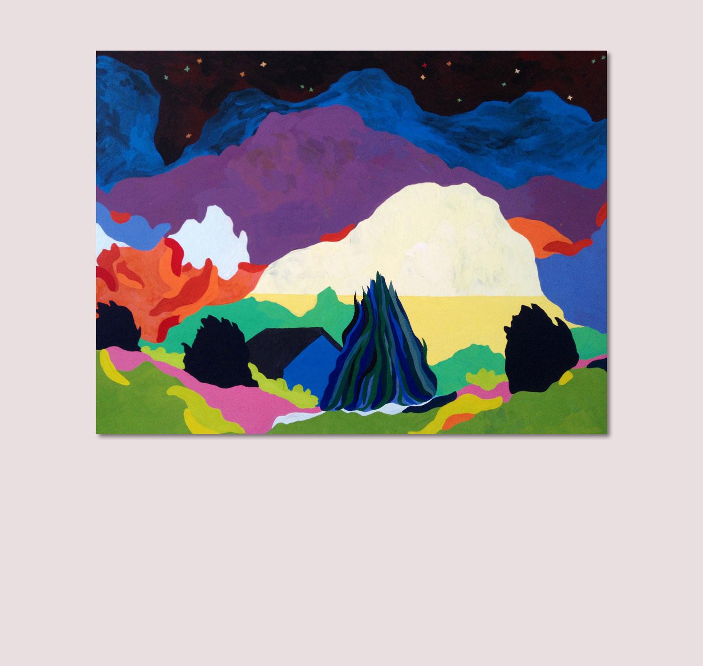 Sudalgie Pichauris, 2012. Gouache sur toile. 100 × 60 cm