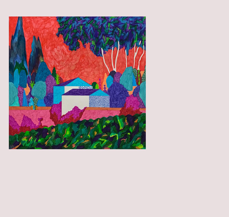 Sudalgie Cascade. feutre sur papier. 53 × 51 cm. 2015