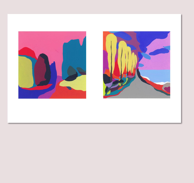 Sudalgie France profonde sans profondeur (Diptyque). 2012. 42 × 29,7 cm