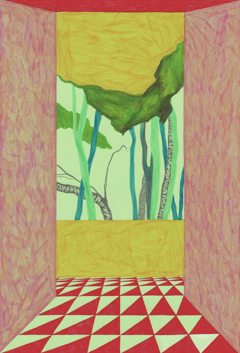 Grottes Paulina 1880, 2013. Feutre sur papier de couleur. 21 × 29 cm