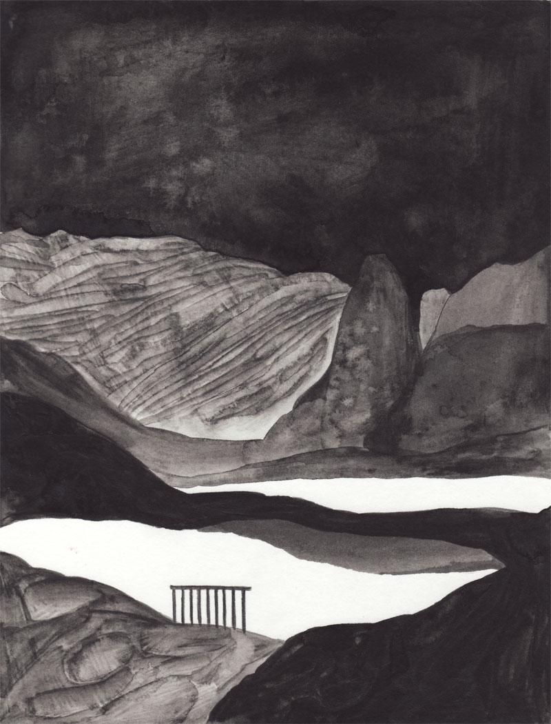 Waterloo Suite Le lac, 2014. Aquarelle. 16 × 21,5 cm