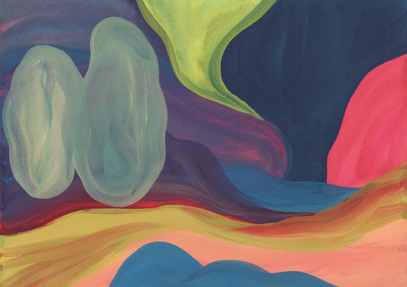 Colline Amouretti, 2014. Gouache sur papier. 23 × 31 cm