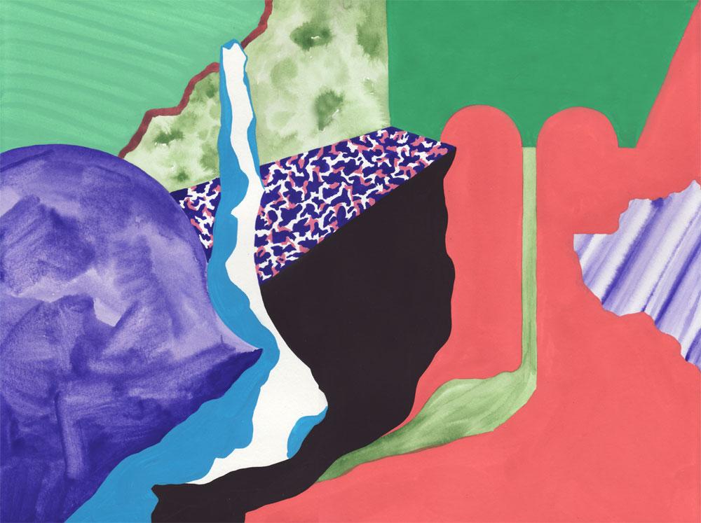 Vestiges Vestige 08, 2014. Gouache sur papier. 29 × 42 cm