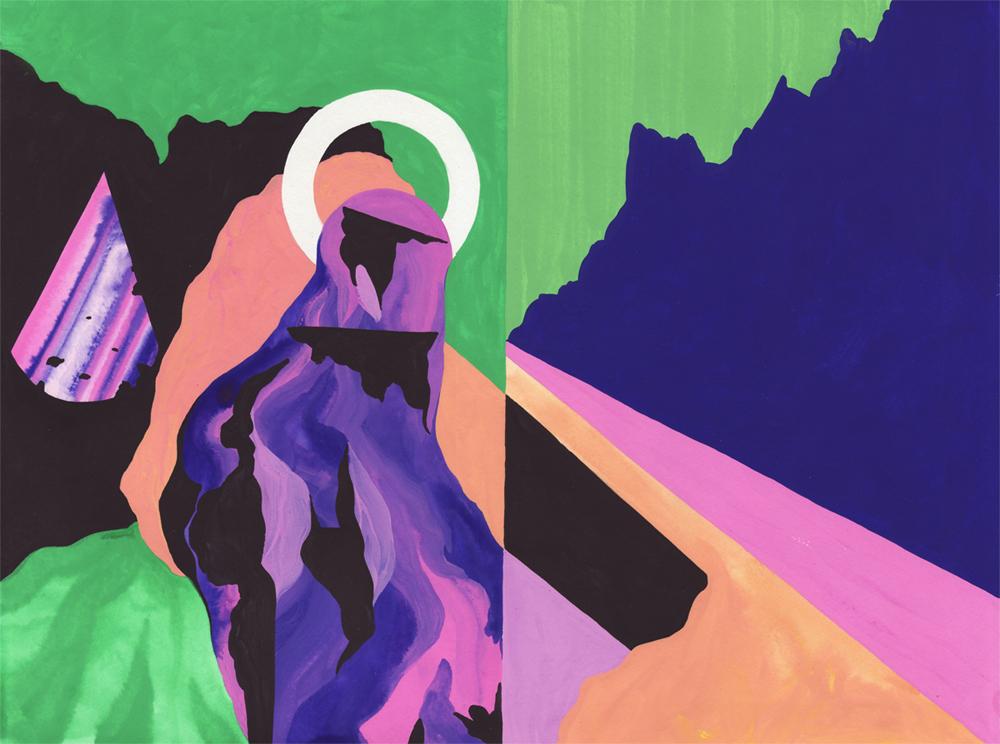 Vestiges Vestige 09, 2014. Gouache sur papier. 29 × 42 cm