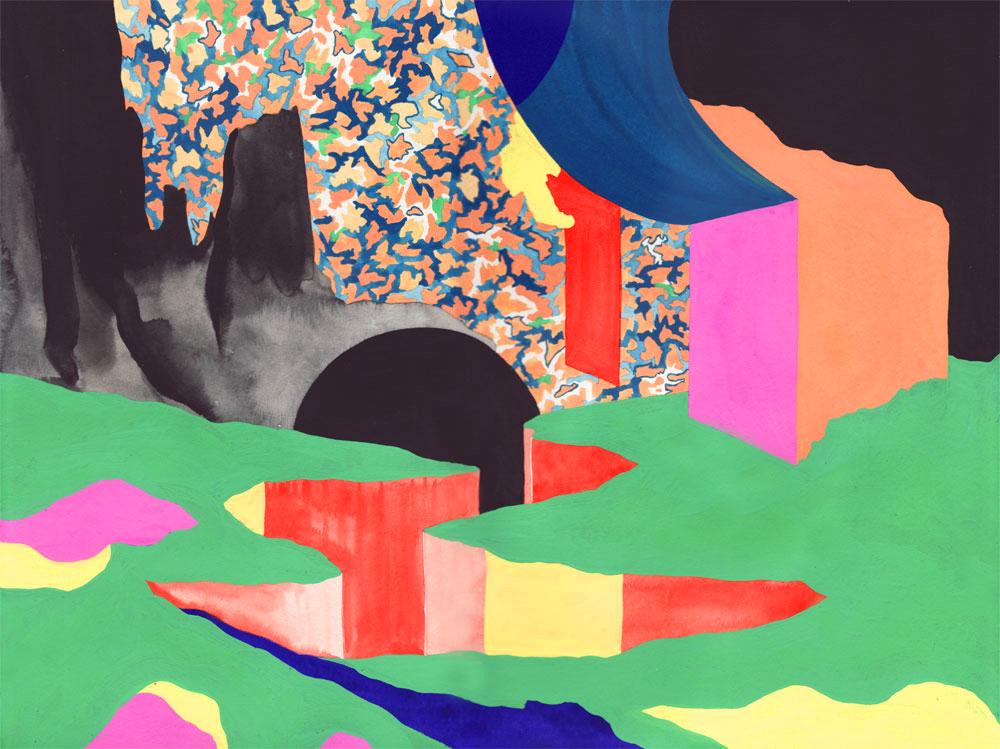 Vestiges Vestige 05, 2014. Gouache sur papier. 29 × 42 cm