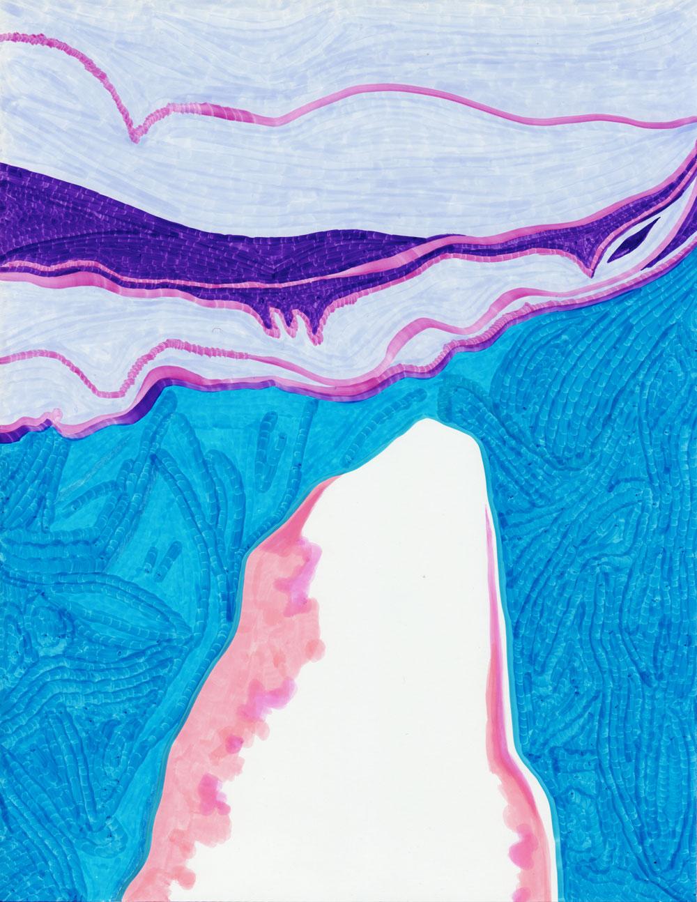 Minis désastres Sans-titre, 2017. Feutre sur papier. 21,6 x 27,9 cm