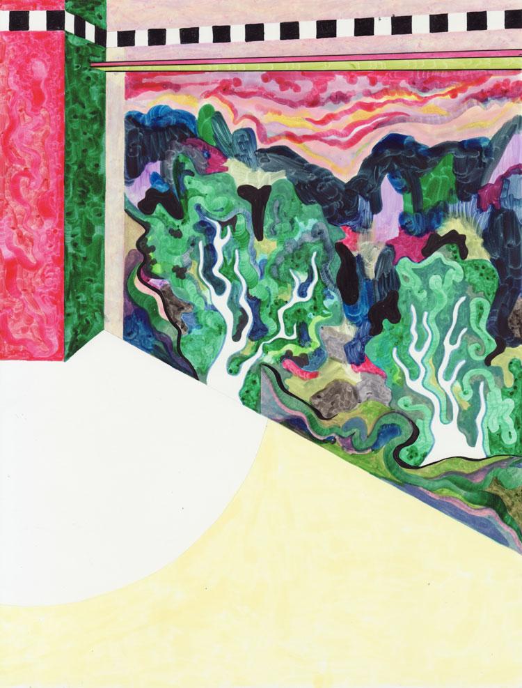 Les arbres Sans-titre, 2017. Feutre sur papier. 14,9 x 20,5 cm