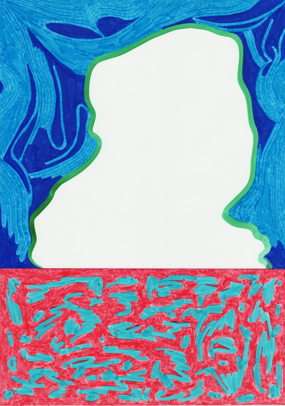 Rayol Sans-titre, 2017. Feutre sur papier. 14,9 x 20,5 cm