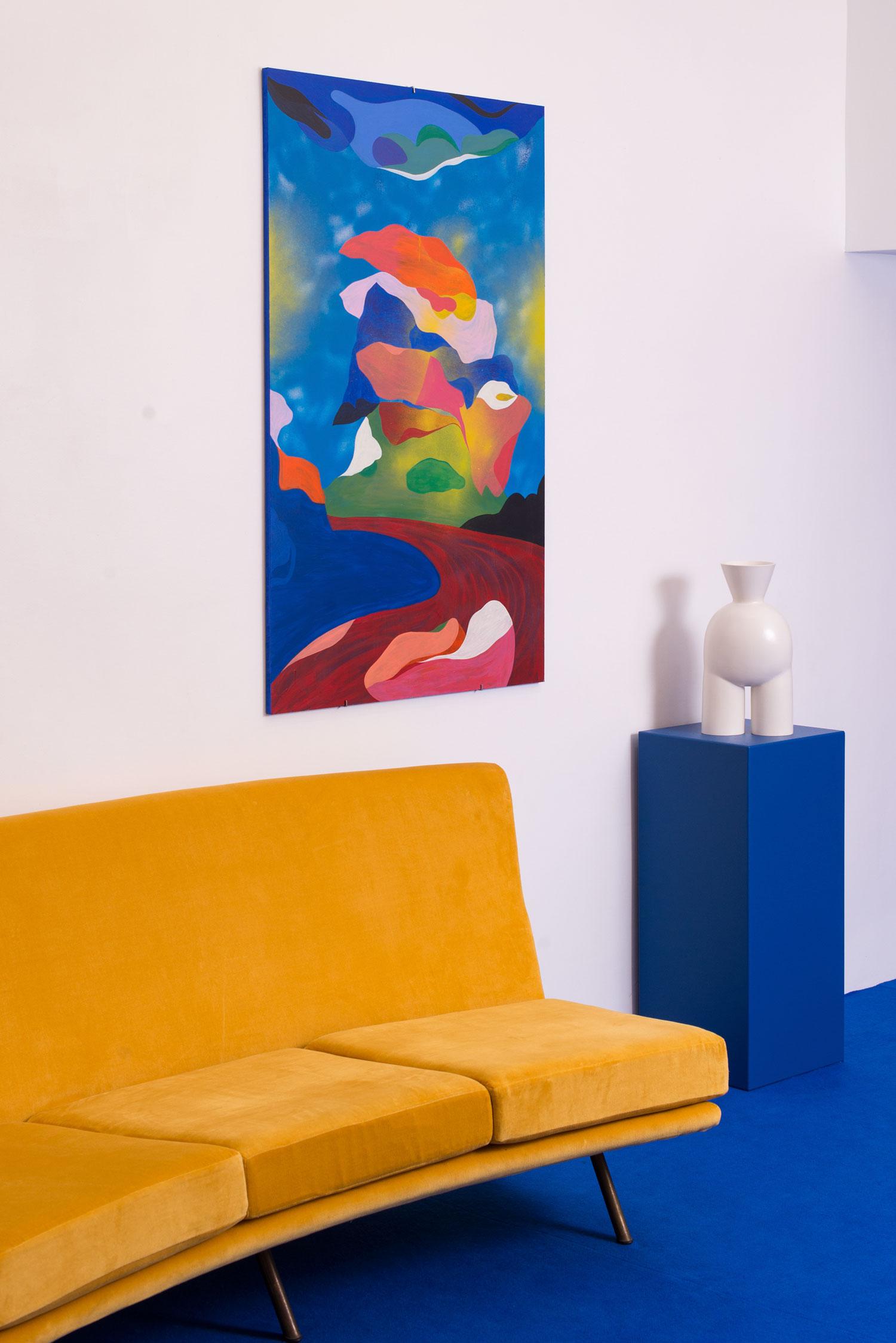 Marseille Peintures sur bois. 2018. Vue d'exposition (La cage aux fauves, Double V Gallery, Marseille)