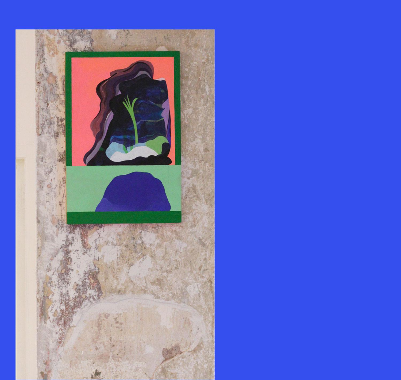 Marseille Sans-titre. Peinture sur bois. 2017. Vue d'exposition (Poc, Marseille).