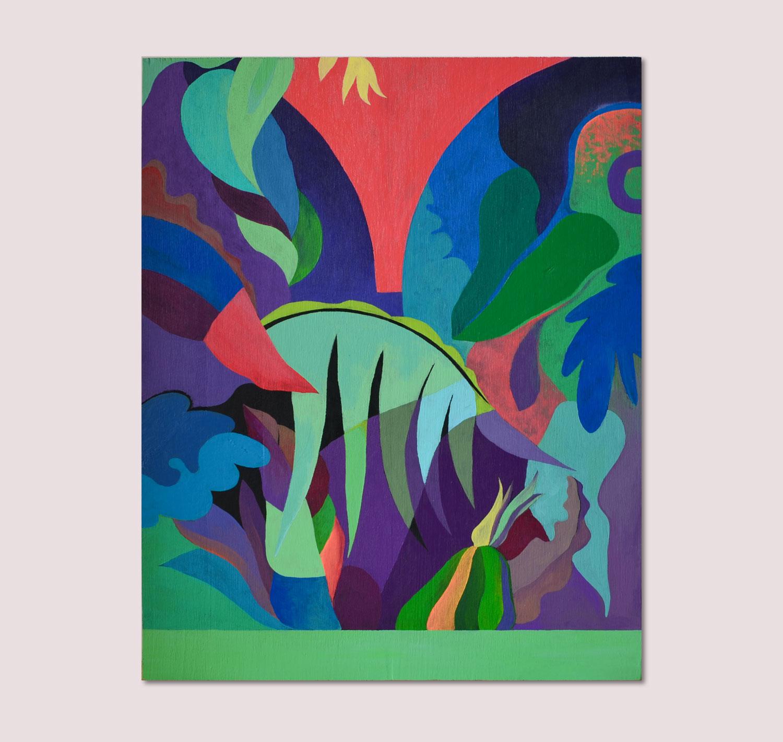 Marseille Sans-titre. Peinture sur bois. 2017. Vue d'atelier.