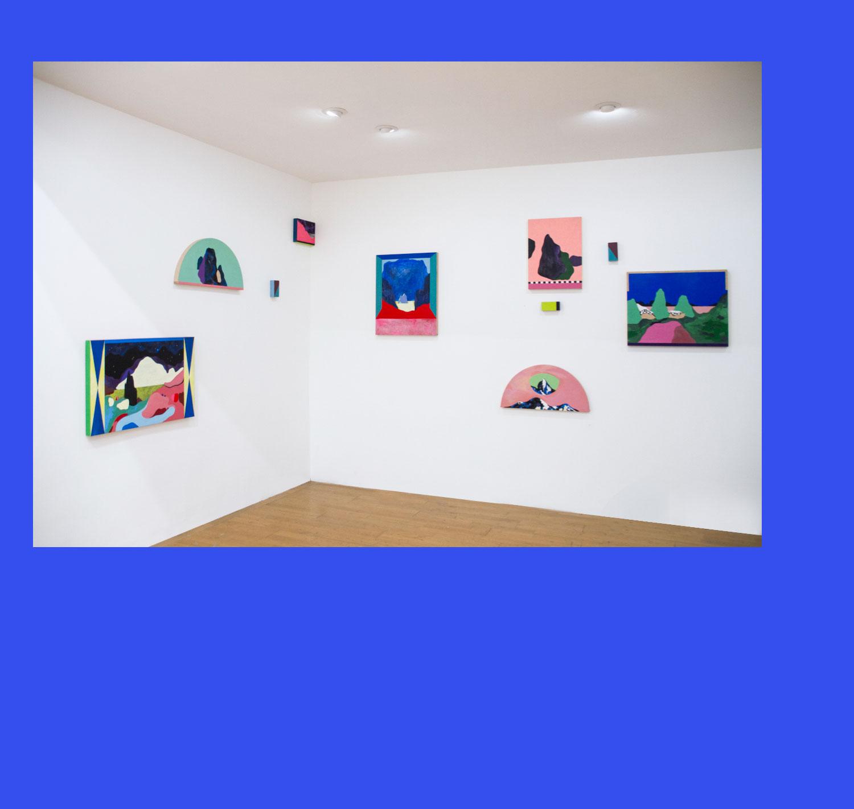 Marseille Massif de l'Étoile. Peintures sur bois. 2016. Vue d'exposition (Memento, Double V Gallery, Marseille)
